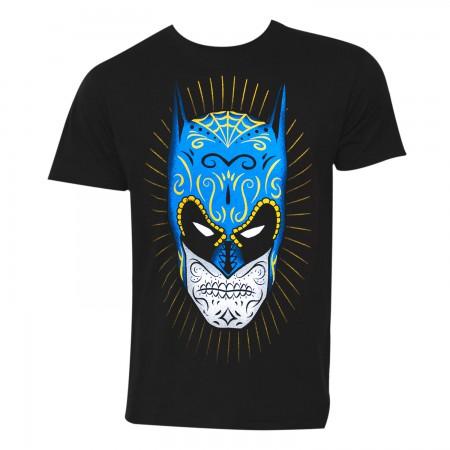 Batman Sugar Skull Men's Black T-Shirt