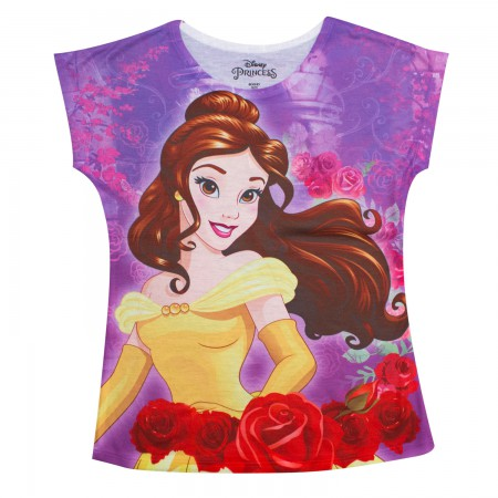 Beauty And The Beast Youth Girls Pink Belle T-Shirt