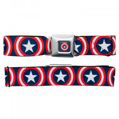 Captain America Logo Seatbelt Belt