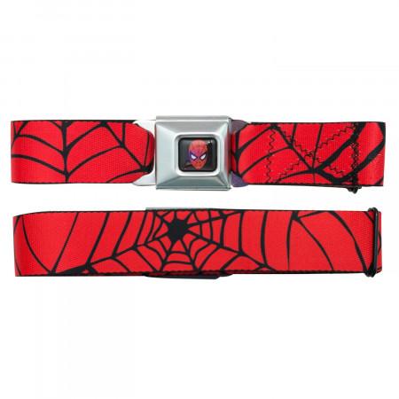 Spider-Man Web Seatbelt Buckle Belt
