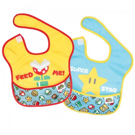 Nintendo Star Bib Two Pack