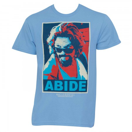 The Big Lebowski Posterized Abide Light Blue Graphic T-Shirt
