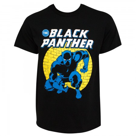 Black Panther Spotlight Men's Black T-Shirt