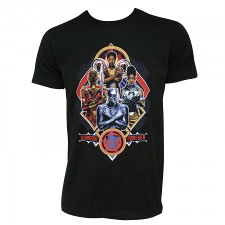 Black Panther Men's Wakanda Forever Women Salute Black T-Shirt