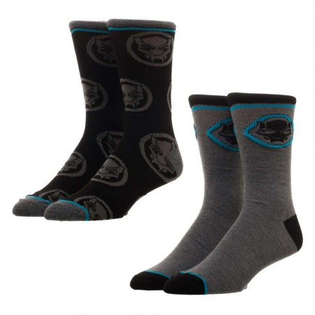 Black Panther Men's 2 Pack Crew Socks