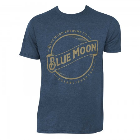 Blue Moon Men's Blue Gold Logo T-Shirt
