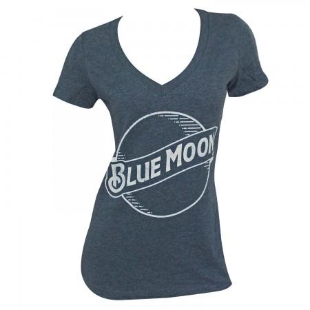 Blue Moon Logo Women's Heather Blue T-Shirt