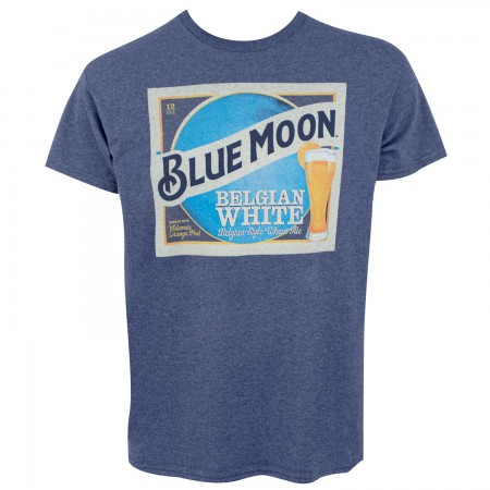 Blue Moon Belgian White Label Men's Blue T-Shirt