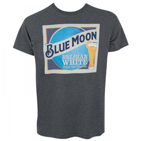 Blue Moon Beer Label Logo Men's Dark Gray T-Shirt