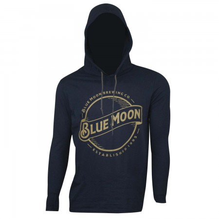 Blue Moon Beer Navy Blue Men's Pullover Hooded T-Shirt
