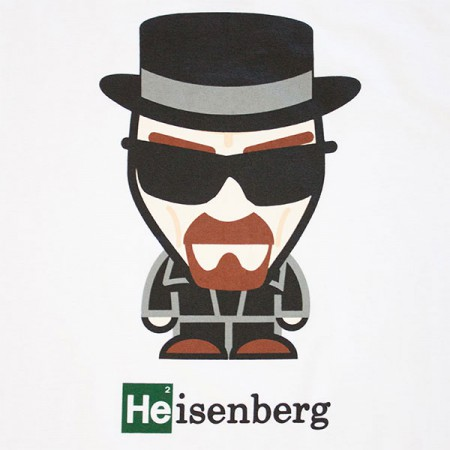 Breaking Bad Heisenberg Cartoon Shirt - White