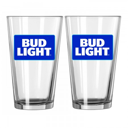 Bud Light 2 Pack Pint Glasses