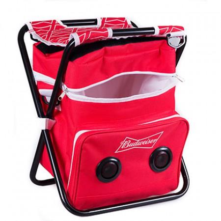 Budweiser Folding Chair Cooler Speaker Combo
