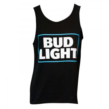 Men's Bud Light Beer Black Tank Top
