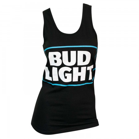 Women's Bud Light Beer Black Tank Top