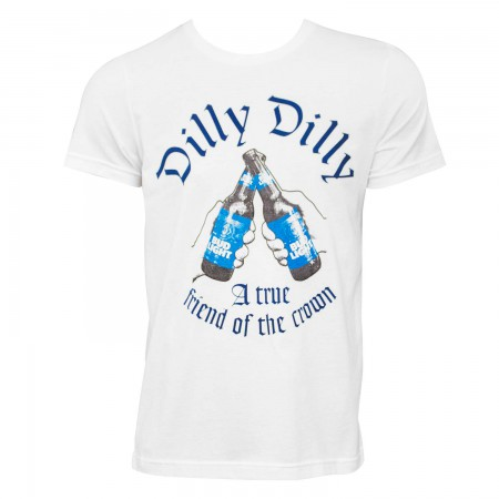 Bud Light Men's White Dilly Dilly Friend Of The Crown T-Shirt