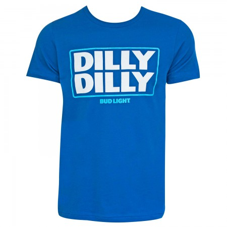 Bud Light Beer Dilly Dilly Logo Men's Blue T-Shirt
