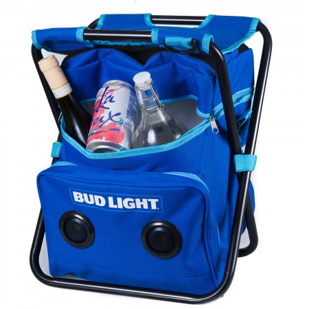 Bud Light Cooler Folding Chair With Built-In Speakers