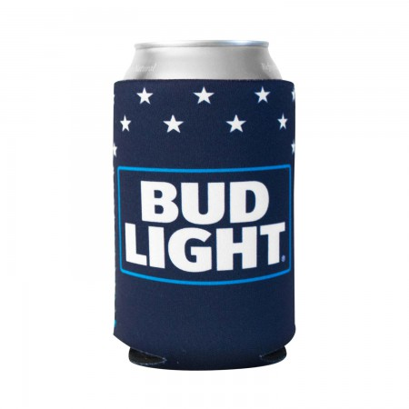 Bud Light Foam Patriotic Can Cooler