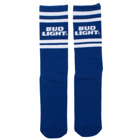 Bud Light Striped Blue Socks