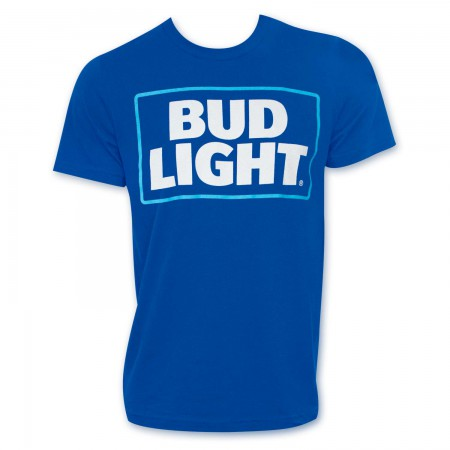 Bud Light New Logo Men's Royal Blue T-Shirt