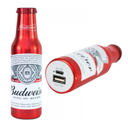Budweiser Replica Beer Bottle Power Bank
