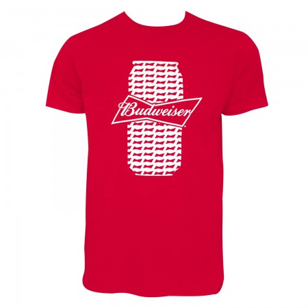 Budweiser Men's Red Beer Can T-Shirt
