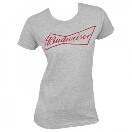 Budweiser Beer Logo Grey Women's T-Shirt