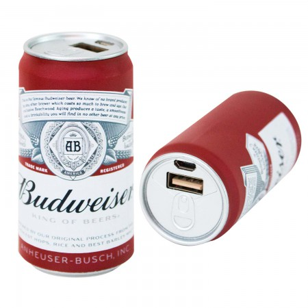 Budweiser Replica Beer Can Power Bank