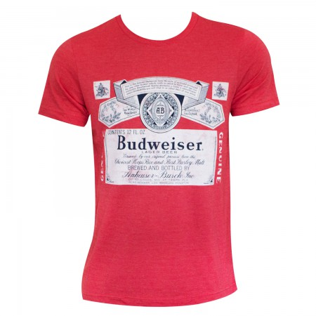 Budweiser Logo Men's Heather Red T-Shirt