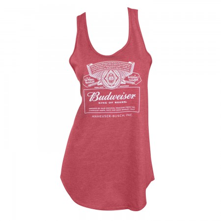 Budweiser Racerback Ladies Tank Top