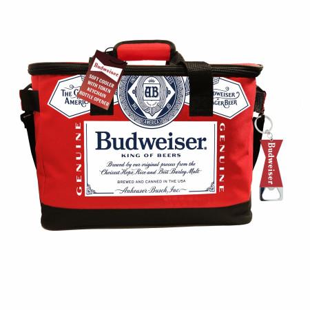 Budweiser Soft Cooler With Bottle Opener
