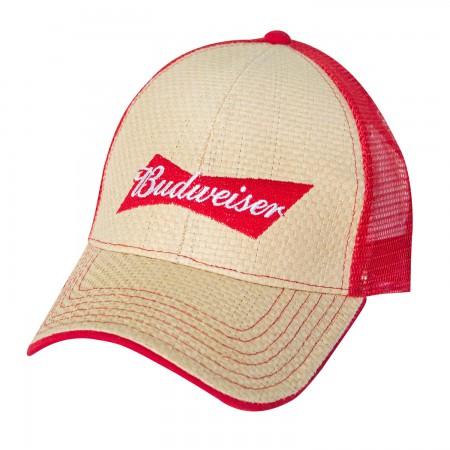 Budweiser Straw Baseball Hat