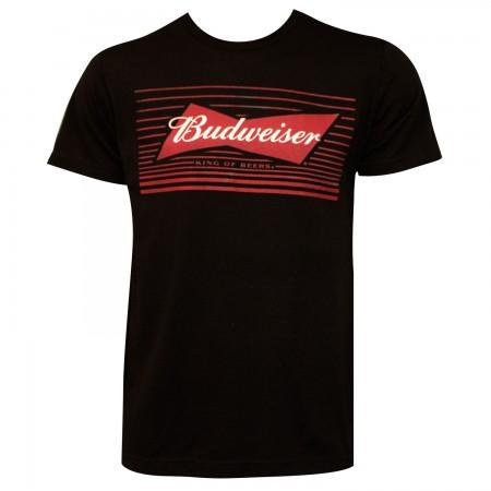 Budweiser Bow Tie Logo Black T-Shirt