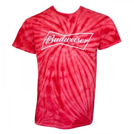 Budweiser Men's Red Tie Dye T-Shirt