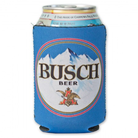 Blue Busch Beer Can Cooler