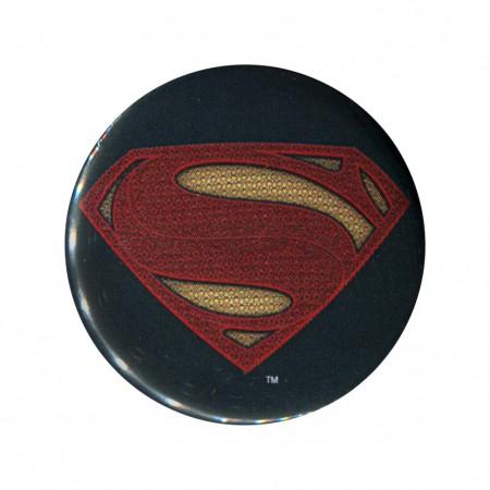 Batman V Superman Superman Logo Button