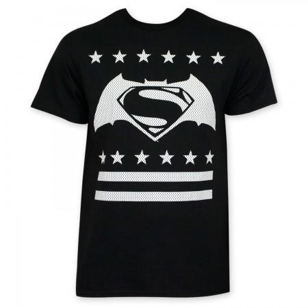 Batman V Superman Black White Dot Logo T-Shirt