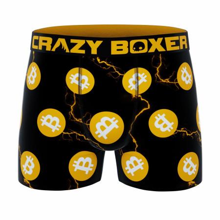 Crazy Boxer Bitcoin Symbols All Over Men's Boxer Briefs