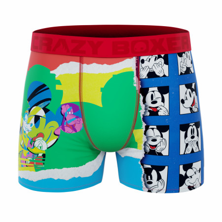 Crazy Boxer Disney Mickey Mouse Paint and Grid Boxer Briefs