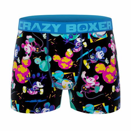 Crazy Boxer Disney Mickey Mouse Neon Heads Men's Boxer Briefs