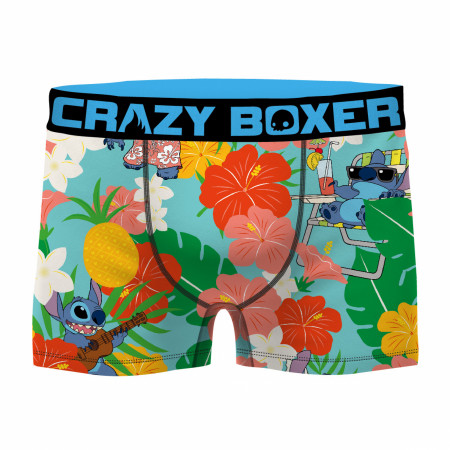 Floral Lilo and Stitch Boxer Men's Boxer Briefs Shorts