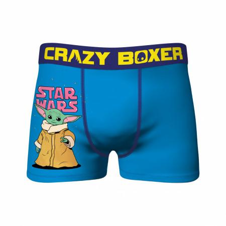 Star Wars The Child Blue Crazy Boxer Briefs