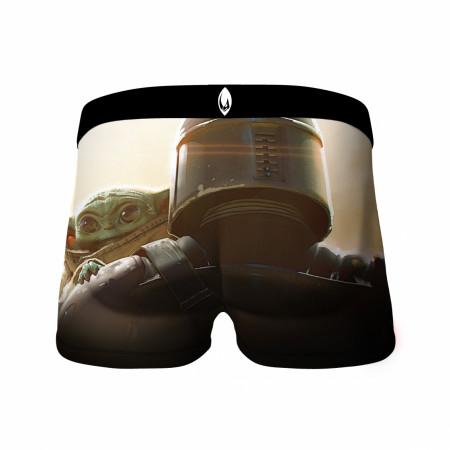 Star Wars The Child & Mandalorian Over The Shoulder Crazy Boxer Briefs