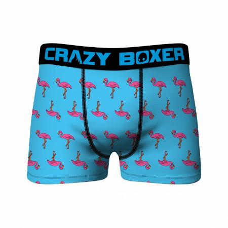Crazy Boxer Mini Flamingos All Over Men's Boxer Briefs