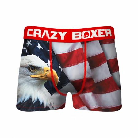 Patriotic Eagle with Flag Men's Underwear Boxer Briefs