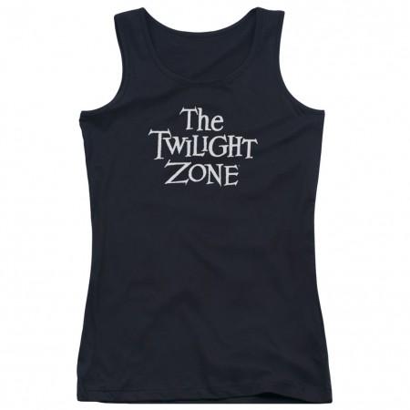 Twilight Zone Logo Black Juniors Tank Top