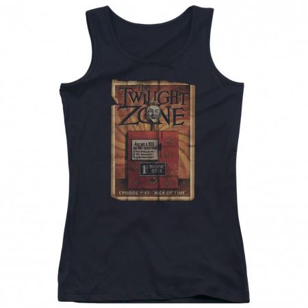Twilight Zone Seer Black Juniors Tank Top
