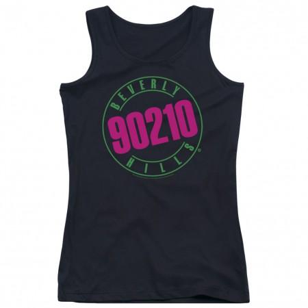 Beverly Hills 90210 Neon Black Juniors Tank Top