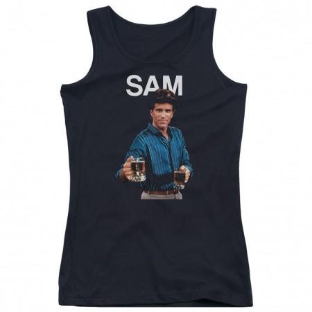 Cheers Sam Black Juniors Tank Top